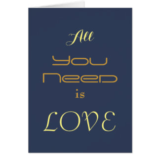 Valentine's Day Typography Love card
