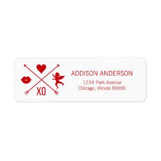 Valentine's Day Valentine Symbols Address Labels