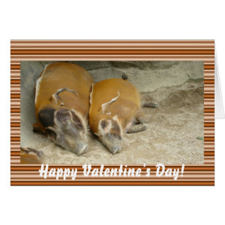 Valentine's day_ warthog Card
