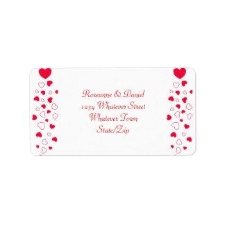 Valentines Day Wedding Address Label