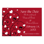 """Valentine's Day Wedding Photo Save the Date Cards 5"""" X 7"""" Invitation Card"""