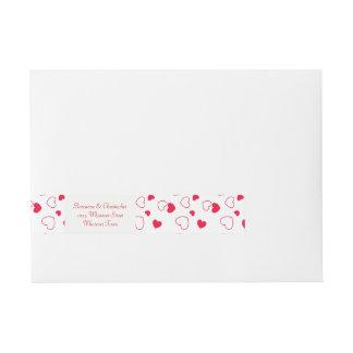Valentines Day Wedding Wraparound Address Label