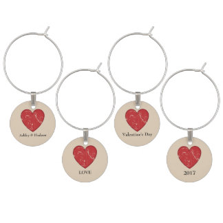 Valentine's Day Wine Charms Personalized