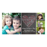 Valentine's Day Word Heart Photo Card Template