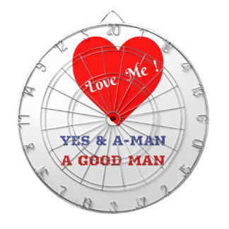 VALENTINES DAY YES AND AMEN  T-SHIRT DARTBOARD WITH DARTS