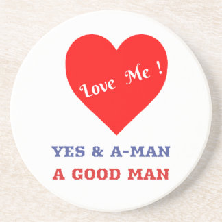 VALENTINES DAY YES AND AMEN  T-SHIRT DRINK COASTER