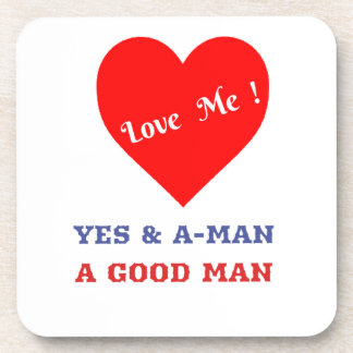 VALENTINES DAY YES AND AMEN  T-SHIRT DRINK COASTERS