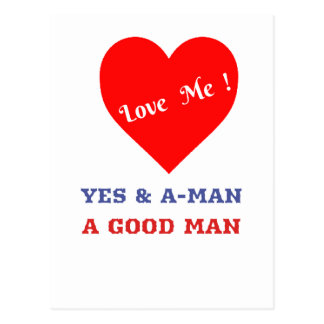 VALENTINES DAY YES AND AMEN  T-SHIRT POSTCARD
