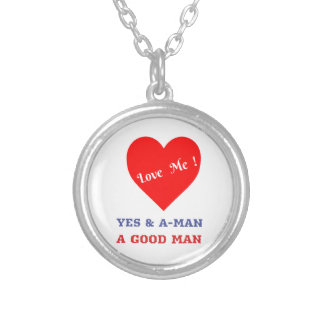 VALENTINES DAY YES AND AMEN  T-SHIRT SILVER PLATED NECKLACE