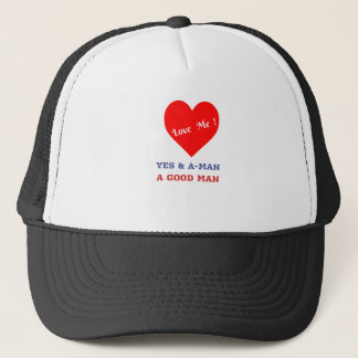 VALENTINES DAY YES AND AMEN  T-SHIRT TRUCKER HAT