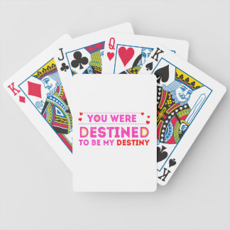 VALENTINES DAY YOU ARE MY DESTINY BICYCLE PLAYING CARDS
