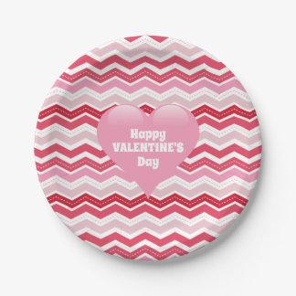 Valentine's Day Zigzag Paper Plate