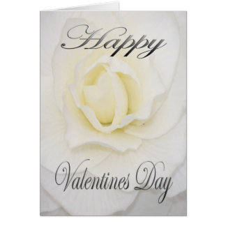 Valentines Flower in White Card