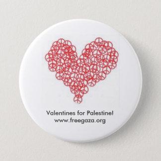 Valentines for Palestine 3 Inch Round Button