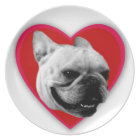 Valentine's French Bulldog Plate