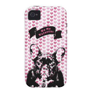 Valentines - french Bulldog Silhouette iPhone 4/4S Covers