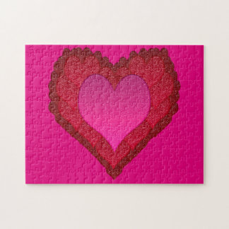 Valentines Glass Hearts Puzzles