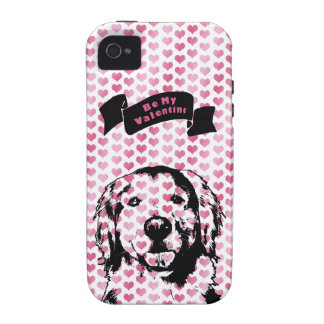 Valentines - Golden Retriever Silhouette Vibe iPhone 4 Cover