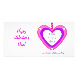 Valentines Heart Layers Photo Cards