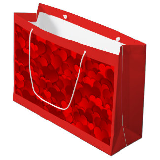 Valentines Hearts Large Gift Bag