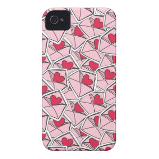 Valentine's Hearts on Envelopes iPhone 4 Case-Mate Cases