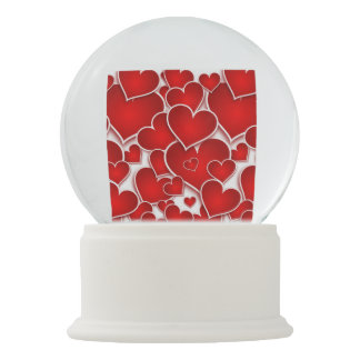 Valentines Hearts Snow Globe