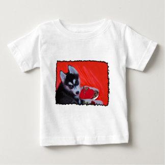 Valentine's Husky dog Baby T-Shirt