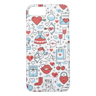 Valentine's Icons custom monogram phone cases
