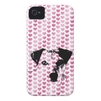 Valentines - Jack Russell Silhouette Case-Mate iPhone 4 Case