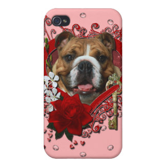 Valentines - Key to My Heart - Bulldog Covers For iPhone 4