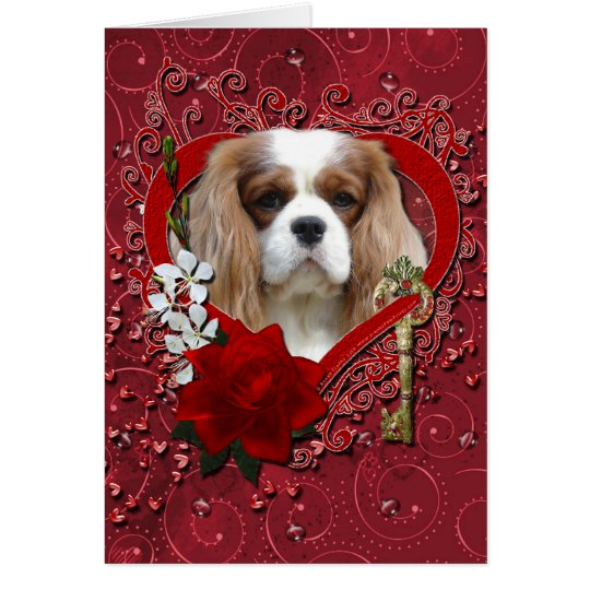 Valentines - Key to My Heart - Cavalier - Light Card