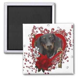Valentines - Key to My Heart - Dachshund - Winston Magnet