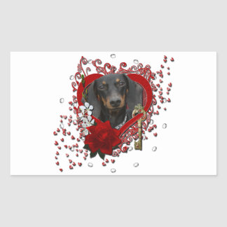 Valentines - Key to My Heart - Dachshund - Winston Sticker