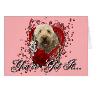 Valentines - Key to My Heart - GoldenDoodle Card