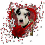 Valentines - Key to My Heart -Great Dane Harlequin Standing Photo Sculpture