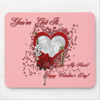 Valentines - Key to My Heart - INSERT YOUR PHOTO Mouse Pad