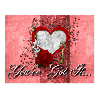 Valentines - Key to My Heart - INSERT YOUR PHOTO Postcard