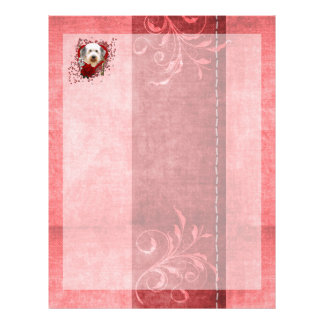 Valentines - Key to My Heart - Old English Sheepdo Letterhead Template