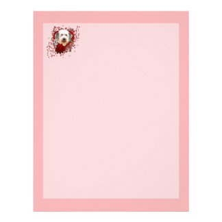 Valentines - Key to My Heart - Old English Sheepdo Letterhead