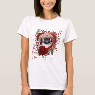 Valentines - Key to My Heart - Pekingese - Zoe T-Shirt