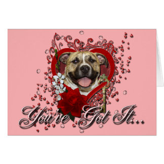 Valentines - Key to My Heart - Pitbull - Tigger Card