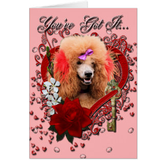 Valentines - Key to My Heart - Poodle - Red Card