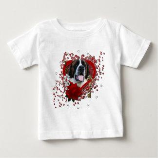 Valentines - Key to My Heart - Saint Bernard - Mae Baby T-Shirt