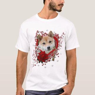 Valentines - Key to My Heart - Shiba Inu T-Shirt