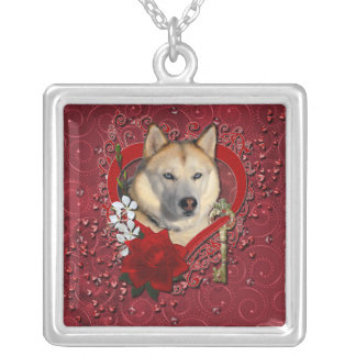 Valentines - Key to My Heart Siberian Husky Copper Personalized Necklace