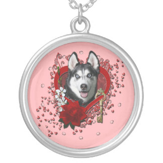 Valentines - Key to My Heart - Siberian Husky Custom Jewelry