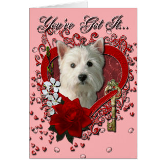 Valentines - Key to My Heart West Highland Terrier Card