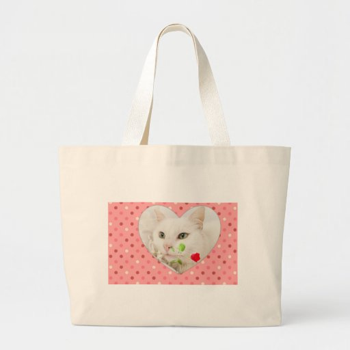 Valentines Kitty Canvas Bags