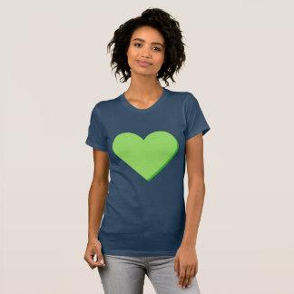 Valentine's Lime-Green Green Heart T-Shirt
