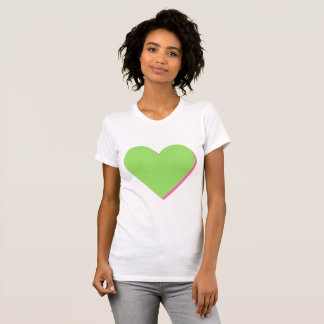 Valentine's Lime-Green Pink Heart T-Shirt